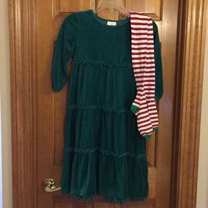 Hanna Andersson Dress and Tights